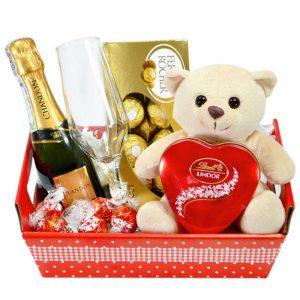 dia internacional da mulher presentes chocolate importado champanhe ursinho de pelúcia